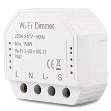 2 способа Wifi умный светильник светодиодный диммер Diy выключатель модуль Smart Life/Tuya APP пульт дистанционного управления, работает с Alexa Echo Google Home