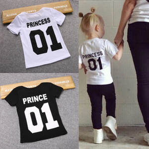 T-Shirt Boys Clothing Tees Number Casual-Tops Prince Funny Girls White Black Kids Children