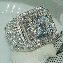 Masculino feminino Micro Pave CZ Casamento Anéis de Noivado Anéis de Hip Hop Que Bling Rodada Forma Legal Rua Mulher Homens Bling Iced Out CZ Anel