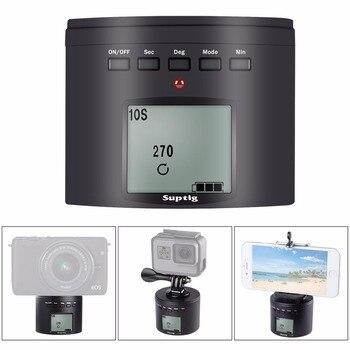 360 rotación automática fotografía retraso cardán para GoPro Hero 8 7 6 5 4 DJI Osmo acción SLR Cámara teléfono móvil retraso temporizador