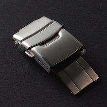 Alta qualidade 18mm 20mm 22mm dobra segurança fecho fivela implantação fecho