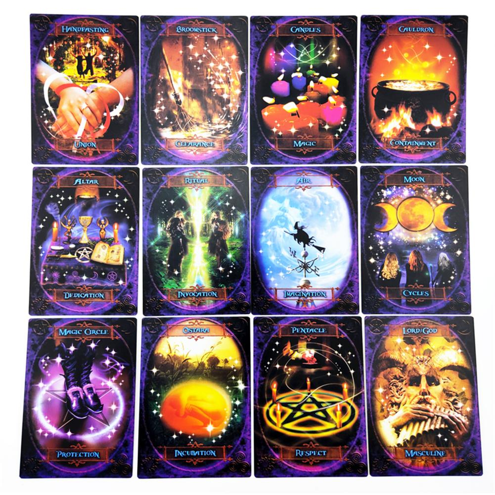 48pcs For Witches Wisdom Oracle Tarot Cards Stunning Deck Board Games For Family Party Playing Card Entertainment Game