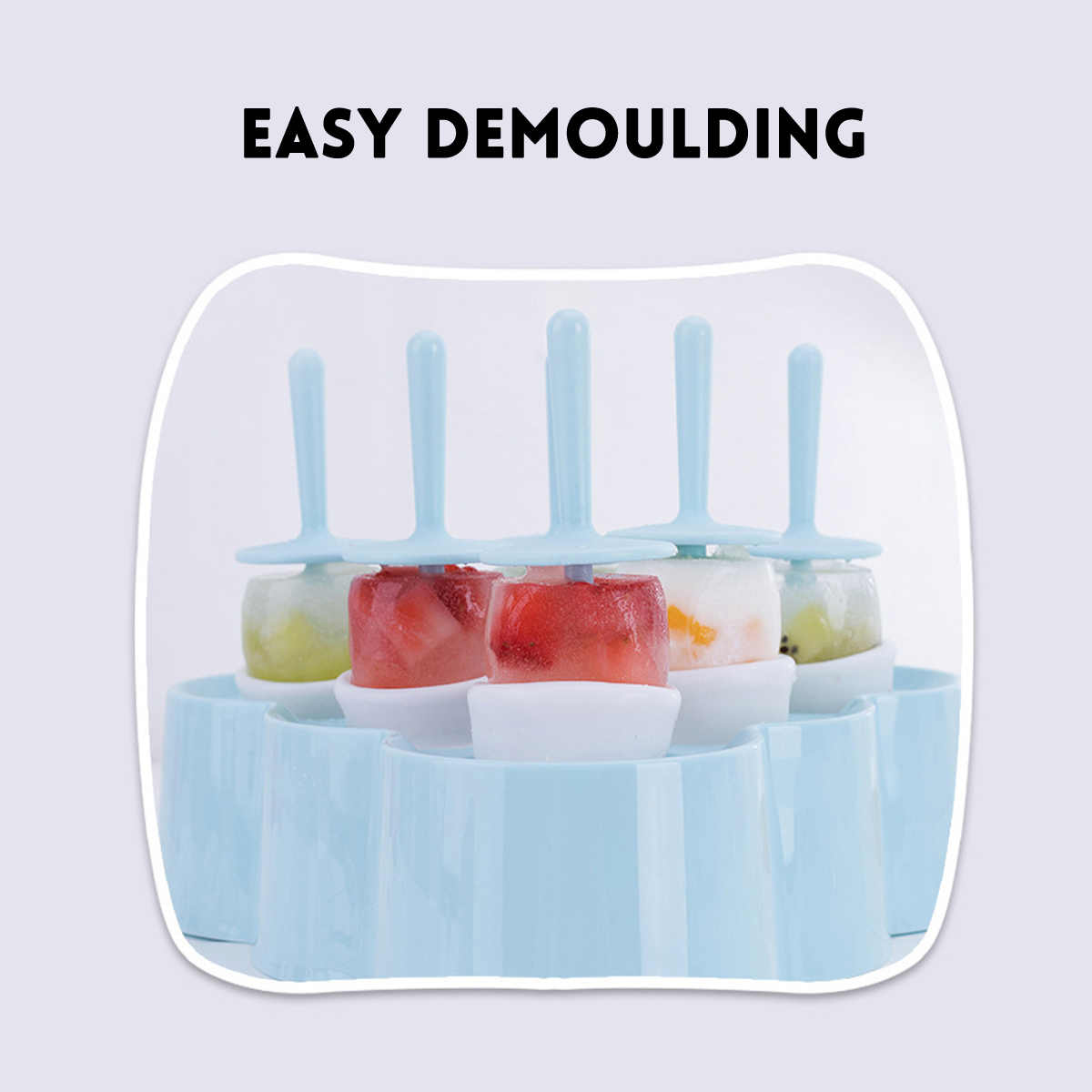 6 Lỗ Silicone Popsicle Khuôn Làm Kem Khuôn Làm Kem Popsicle IcePop Máy Làm Khuôn Mẫu Với Popsicle Dính