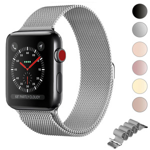 Milanese Loop Bracelet Stainless Steel Strap For Apple Watch Band Series 5 4 42mm 38mm Bracelet Band for iwatch 3/2/1 40mm 44mm(China)