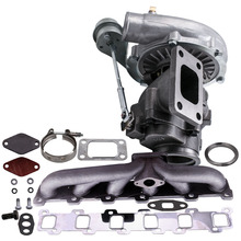 Turbo Collettore di Kit per Nissan Patrol Safari GU GQ 4.2L TD TD42 TB42 T04E T3 T4 .63 A/R 44 Trim Turbocompressore 400 + HP Fase III