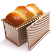 Loaf Pan With Cover Bread Baking Mould Cake Toast Non-Stick Toast Box with Lid Gold Aluminized Steel Bread Mould Bread Mold bread