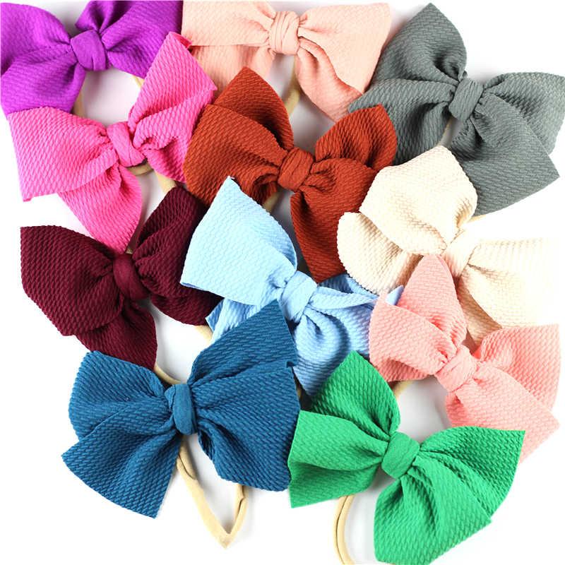 Bow Headband Large Bows Nylon Headband