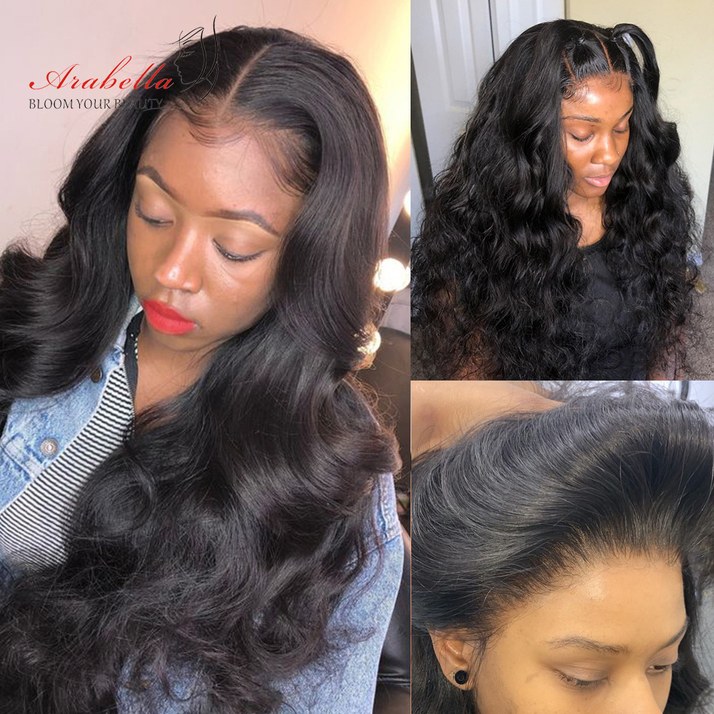 360 Lace Frontal Wig 100%  Wigs Body Wave Wig Pre Plucked  180% Density Arabella  Lace Front Wig 5