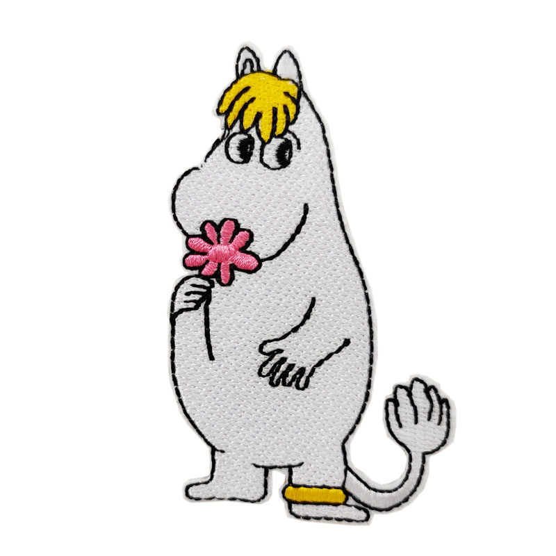 Moomin Hippo Cartoon Kid Patch Embroidered Applique DIY Vest Jackets Patch Iron