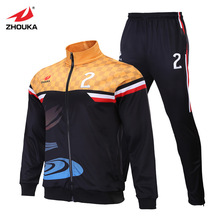 free design sublimation soccer training suit new printing method to custom football tracksuit