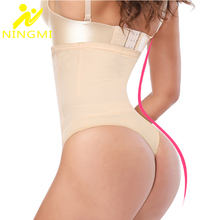 NINGMI High Waist Trainer Butt Lifter Women Pulling Underwear Body Shaper Slimming Pants Tummy Control Panties Thong Shapewear
