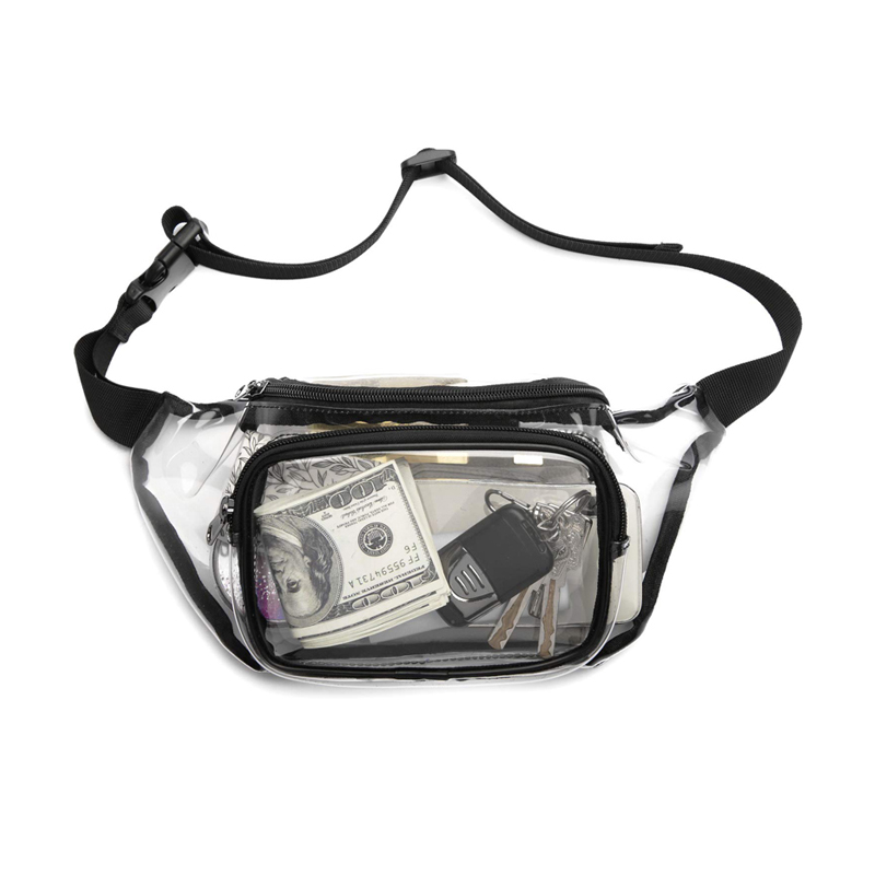 Waist Bag Womens  Pillow Solid PVC Clear Fanny Pack   Belt   Luxury Brand Women