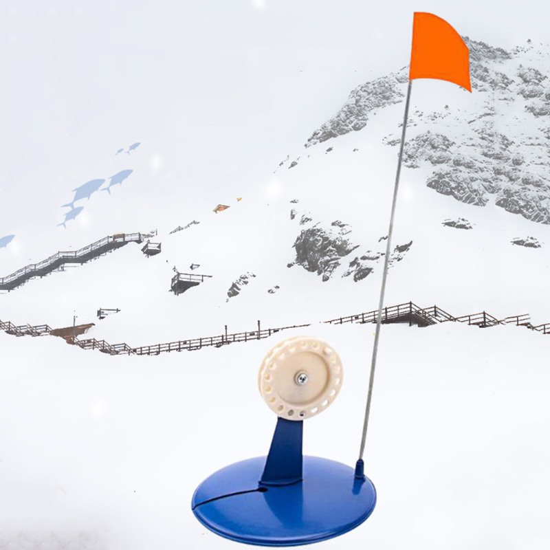 Ice Fishing Plate Warning Winter Rod Tip Up Pole Flag Reminder Outdoor Sport for winter fishing lovers|  - title=