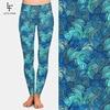 LETSFIND Super Soft Milk Silk Print Waves Style Women Plus Size Fitness Leggings High Waist Ccomfortable Elastic Women Full Pant 2