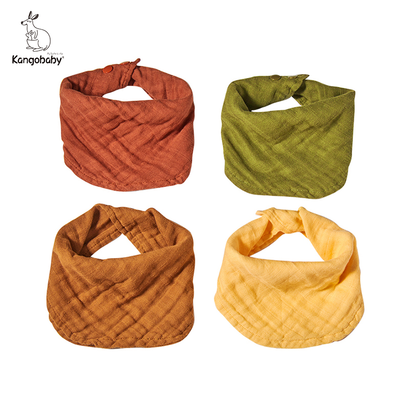 kangobaby-4pcs-muslin-burp-cloths-sets-most-fashion-colorful-solid-color-baby-infinity-scarf-bibs
