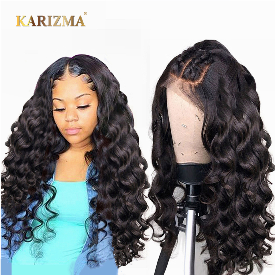 Wigs Lace-Frontal Human-Hair Loose-Wave Bleached Women Brazilian Plucked For 13x4/Pre/Plucked/..