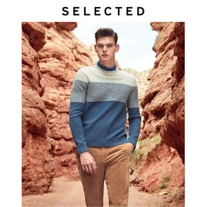 Image 1 - נבחר חדש גברים של צמר תפרים סוודרי החורף חדש עגול צוואר סוודר S