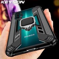 KEYSION-Caso de anillo de Honor 20 Pro 20S 10i 10 Lite 8X 8A de la cubierta del teléfono para Huawei P40 Lite P30 Pro Mate 30 20 Y6 6S Y7 Y9 2019 Y9S