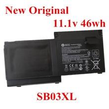 цена на New Original Laptop replacement Li-ion Battery for HP EliteBook 820 720 725 G1 G2 SB03XL 11.1V 46wh