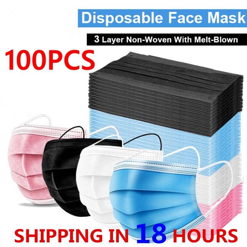 5-100 шт Анти Газ Пыль Маски для лица маска Mascherine тушь для ресниц анти-капли Mascarillas de Proteccion одноразовая маска для лица