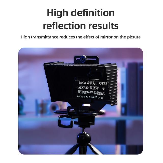 Teleprompter 12 Polegadas com Suporte para Ipad - Mini Tablet e Smartphones - Suporta Gravação em Câmeras DSLR e Smartphone 6