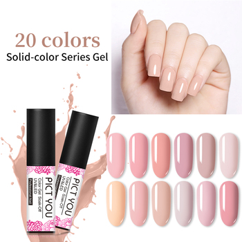 PICT YOU 5ml Solid-color Gel Polish  One-shot Color Nail Art Gel Fashion Soak Off UV Gel Varnish