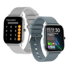 GW22สมาร์ทนาฬิกาสาย Bluetooth 1.6นิ้ว Touch Screen Heart Rate ความดันโลหิต O2 Monitor เครื่องคิดเลขแฟชั่น Call นาฬิกา