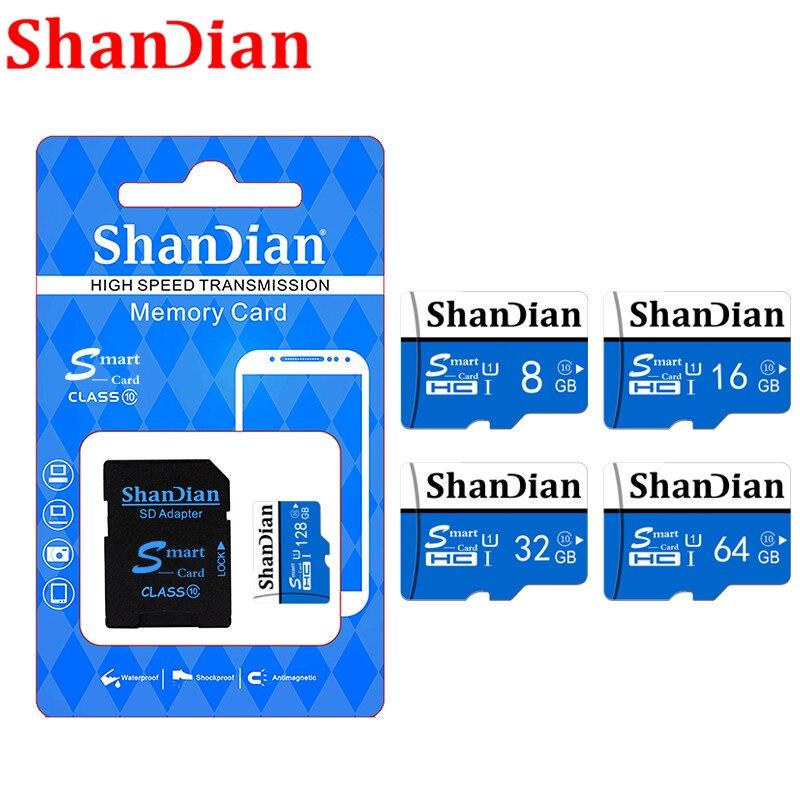 ShanDian Real Capacity 4GB 8GB 16GB 32GB 64GB Micro Sd Card TF Memory Card For Phone Camera Conputer Free Shipping