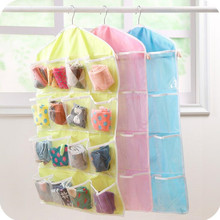 Storage Bag Transparent Hanging Wardrobe Organizer Socks Bra Underwear Rack Clothes Closet 16 Pockets