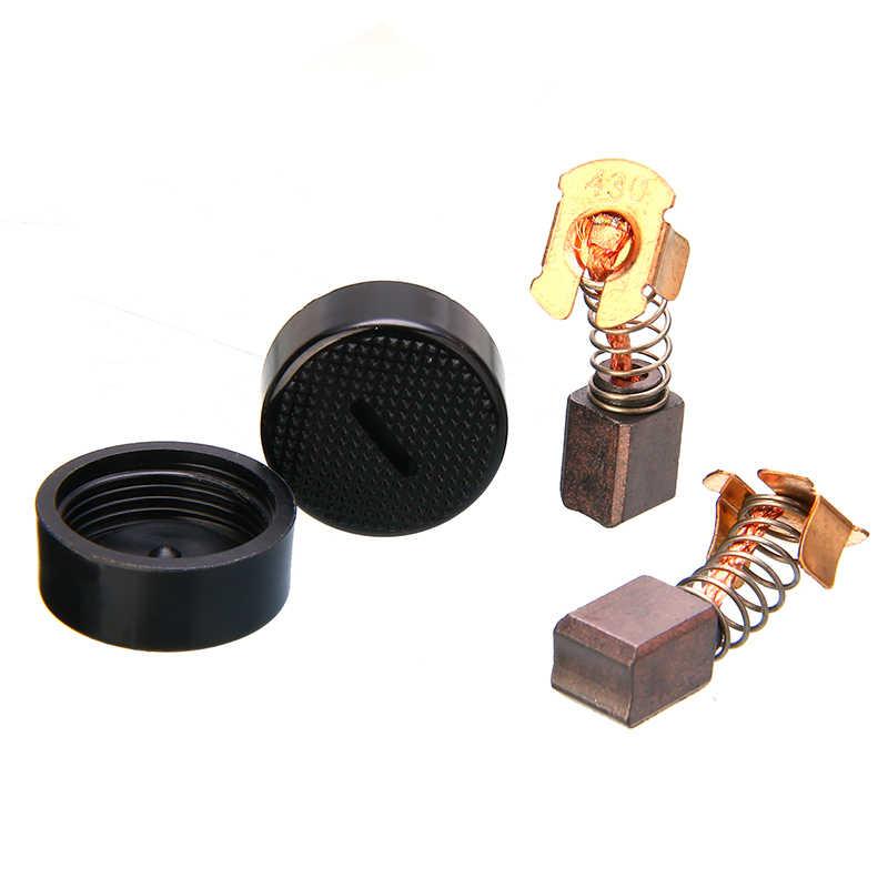 2pcs คาร์บอนไฟเบอร์แปรงหมวกสำหรับ CB-430 Makita BGA450 BGA452 DGA452 GA400 BGA402