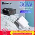 Baseus 30W Ricarica Rapida 4.0 3.0 Caricatore USB per Xiaomi Huawei 5A Sovralimentare Dual USB di Tipo C PD 3.0 fast Charger per iPhone X XS