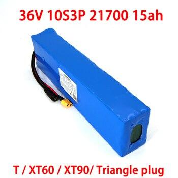 Liitokala 36V 15Ah battery 21700 10S3P battery pack 500W high power batteries 42V 15000mAh Ebike electric bicycle BMS
