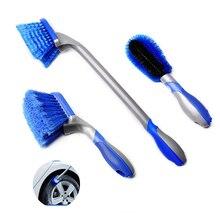 Ferramentas de lavagem do carro escova de limpeza de pneus roda roda cubo escovas carro detalhando ferramenta interior floorliner tapete escova de limpeza