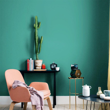 Nordic style blue wallpaper plain light luxury bedroom restaurant living room clothing store papel de parede