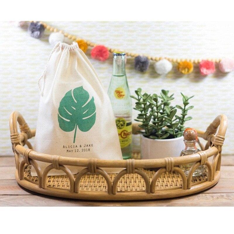 Tropical Wedding Favor Bag Personalised Bridal Party Welcome Gift Bags Monstera Leaf Bag Bachelorette Gift Bag Hangovers Kit Bag