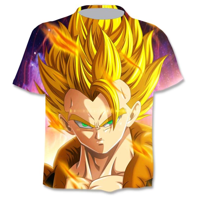 Funny Anime Men's T-Shirts 3D Graphic T-Shirt Anime Boys Clothing Summer Fashion O-Neck Shirts Plus Size Street Clothing