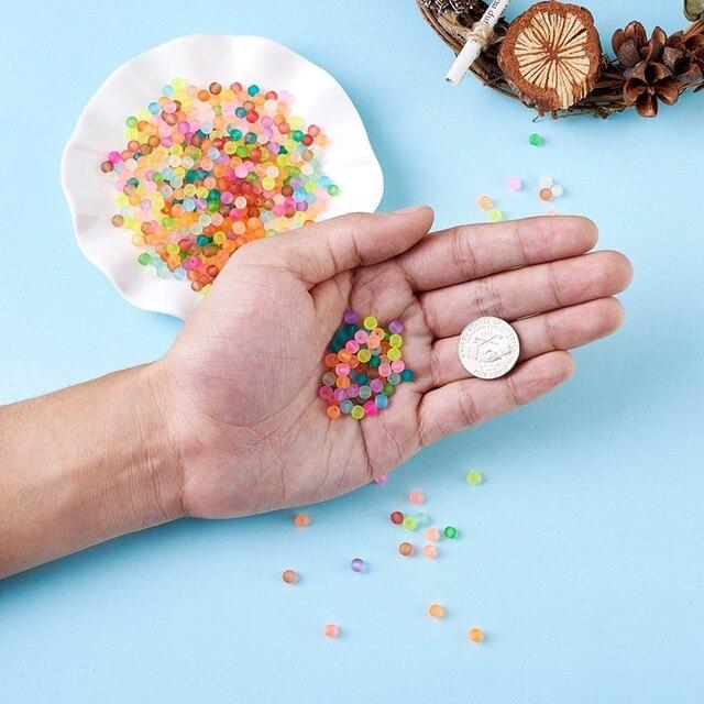 Фото 500 шт разноцветные круглые прозрачные матовые стеклянные бусины
