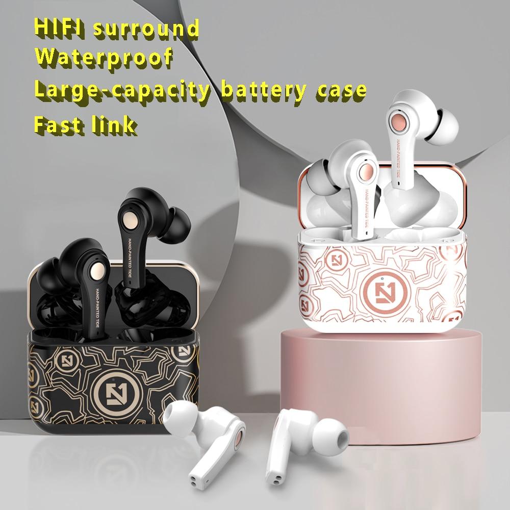 2021 WTS беспроводные Bluetooth-наушники с зарядным футляром; Микрофон; Водонепроницаемая HIFI стерео спортивная Гарнитура для Xiaomi Redmi Huawei Honor