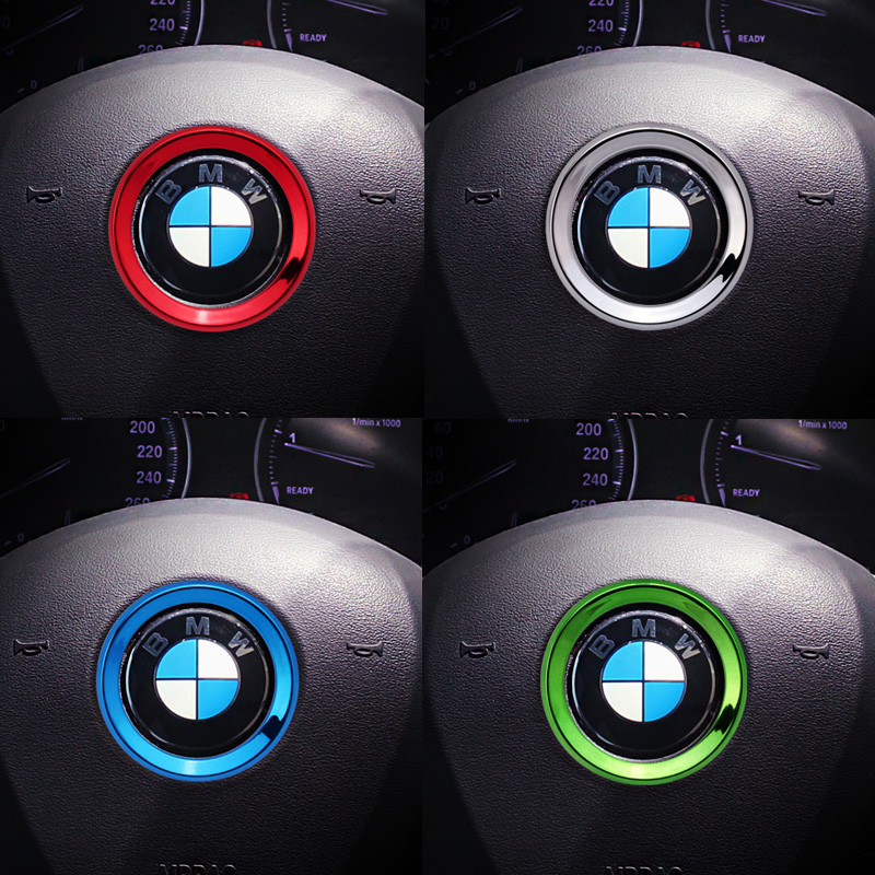 ABS steering wheel trim decorative center emblem frame sticker accessories for M3 M5 E36 E46 E60 E90 E92 BMW X1 F48 X3 X5 X6 F10 image