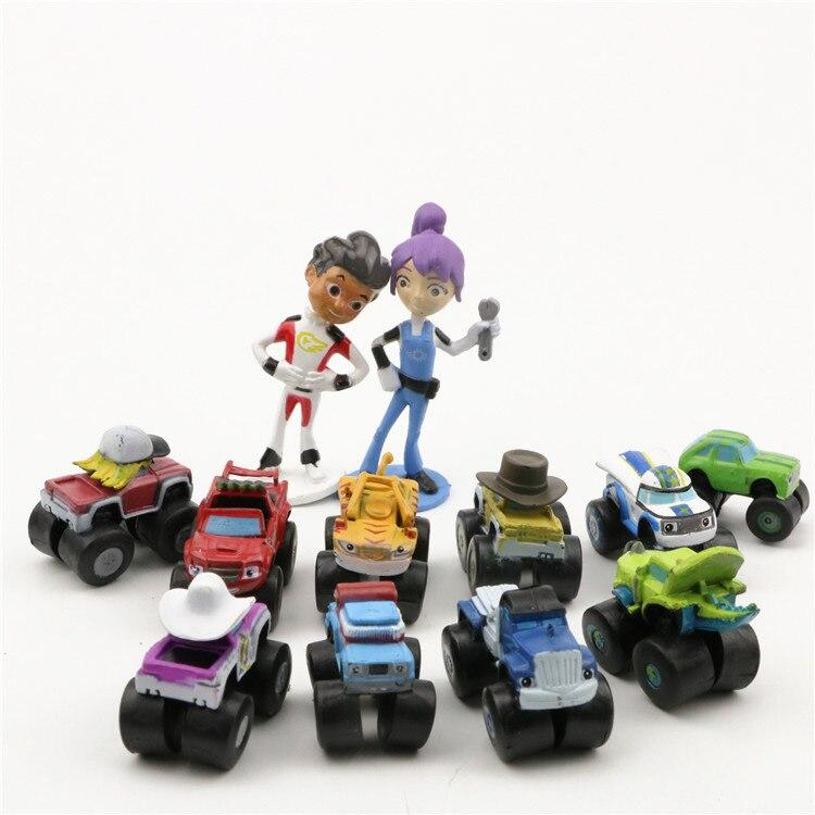 12pcs/set Blaze Dolls Monster Machines PVC Action Figure Toys For Kid Birthday Gift