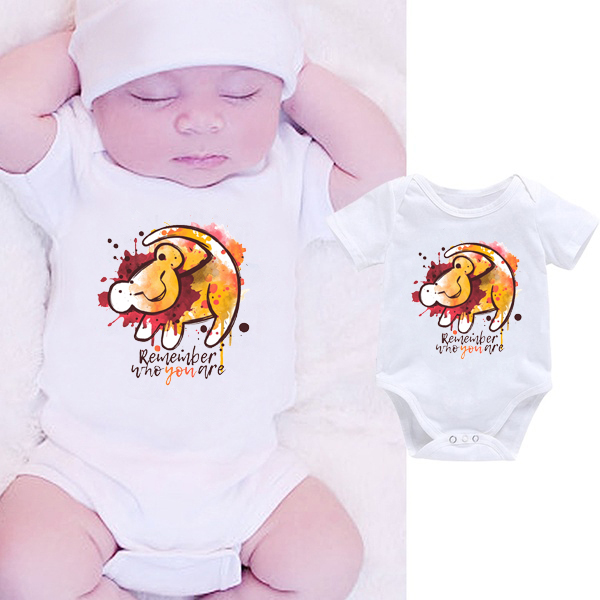 DERMSPE 2019 Fashion Toddler Boy Girl Print Summer White Newborn Bodysuits Funny Baby Clothes Short Hot Sales Sets