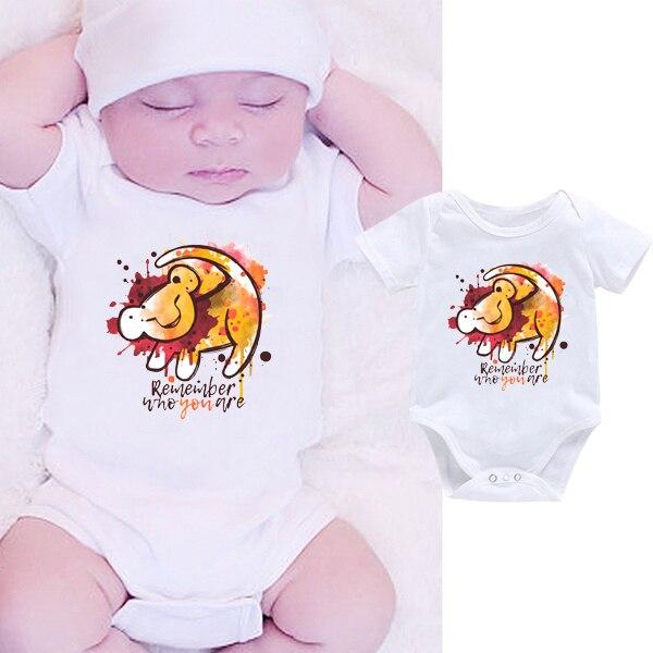 DERMSPE 2019 Fashion Toddler Boy Girl Print Summer White Newborn Bodysuits Funny Baby Clothes Short Hot Sales Sets