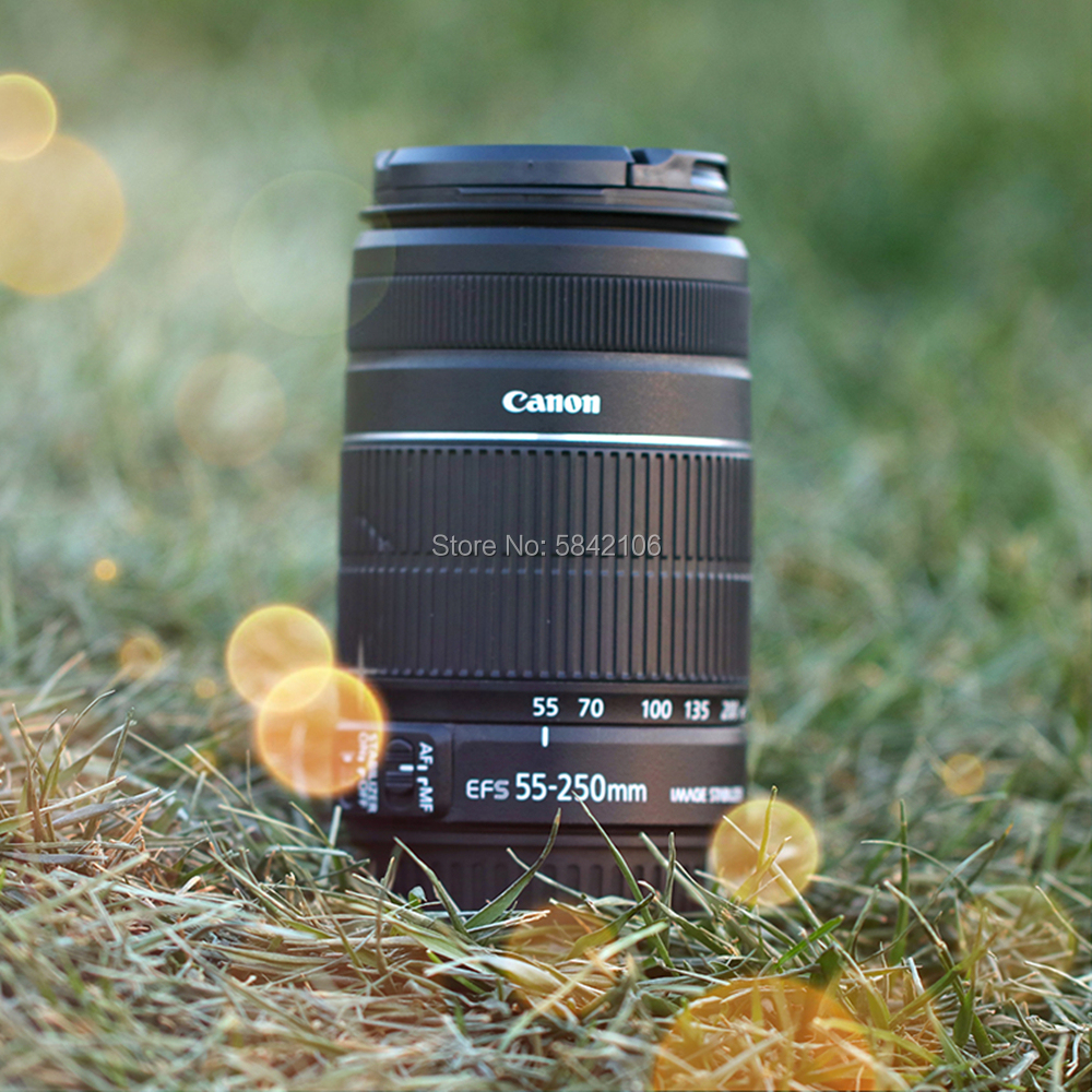USED Canon camera lens EF 55-250mm f4-5.6 IS II Lens for 7D 7DII 40D 50D 60D 70D 77D 80D 90D 450D 500D 600D <font><b>700D</b></font> 750D 760D 77D image