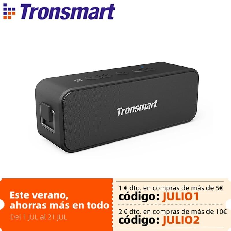 Tronsmart T2 Plus Bluetooth 5.0 Speaker 20W Portable Speaker 24H Column IPX7 Soundbar with NFC,Voice Assistant,Micro SD