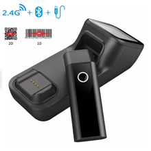 цена на 2D Portable Bluetooth Wireless Barcode Scanner QR Code Reader Bluetooth 1D 2D Read Screen Code for Mobile Payment