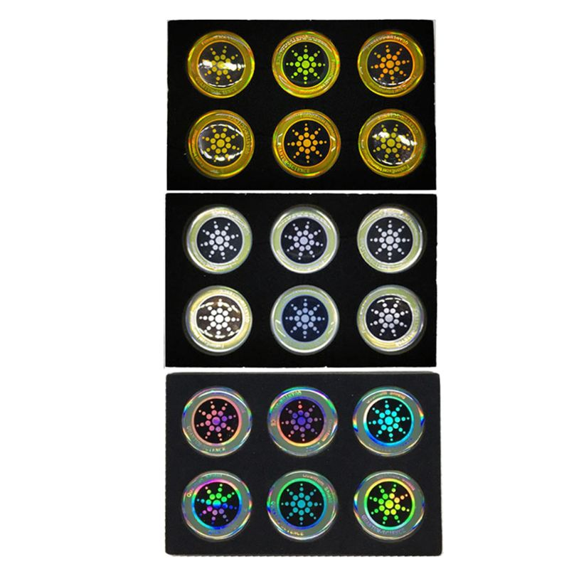 6Pcs Round Quantum Shield Sticker Anti Radiation Protection Mobile Phone Sticker for Cellphone EMF Protector
