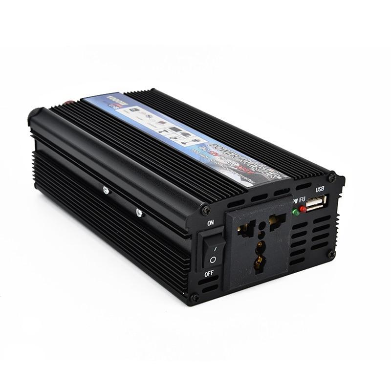 USB зарядка 1000 Вт DC 12 В к AC 220 В портативный автомобильный инвертор зарядное устройство конвертер адаптер DC 12 к AC110V 220 В