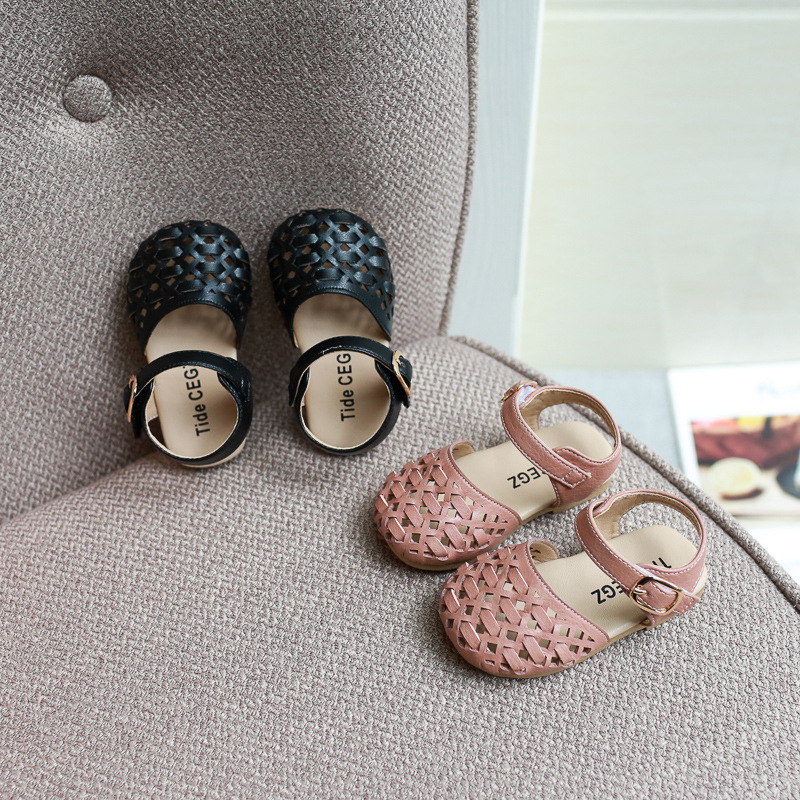Spring And Summer Girls Leisure Sandals Woven Princess Beach Shoes Children's Shoes  Little Girl Shoes