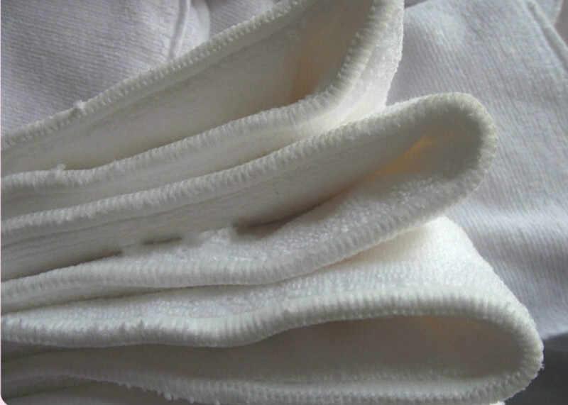 Caliente reutilizable lavable microfibra de carbón de bambú insertos Boosters forros para Real bolsillo pañal de tela cubierta inserto envoltura