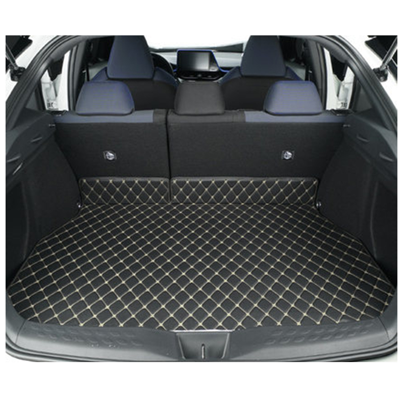 Pu Leather Rear Trunk Floor Pad Cover For Toyota CHR 2018 Anti dirty Trunk Protection Mat Cover For Toyota C HR 2017 2018 2019|  - title=